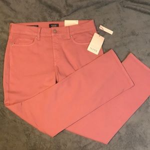 NWT NYDJ Pink Marilyn Straight Jeans
